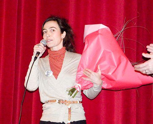 Éléonore Pourriat, marraine de l'Association Aurélie, prévention contre les violences faites aux femmes