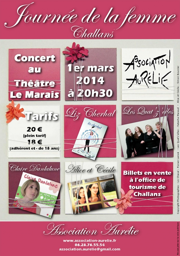 Affiche des 5 ans de l'association Aurélie
