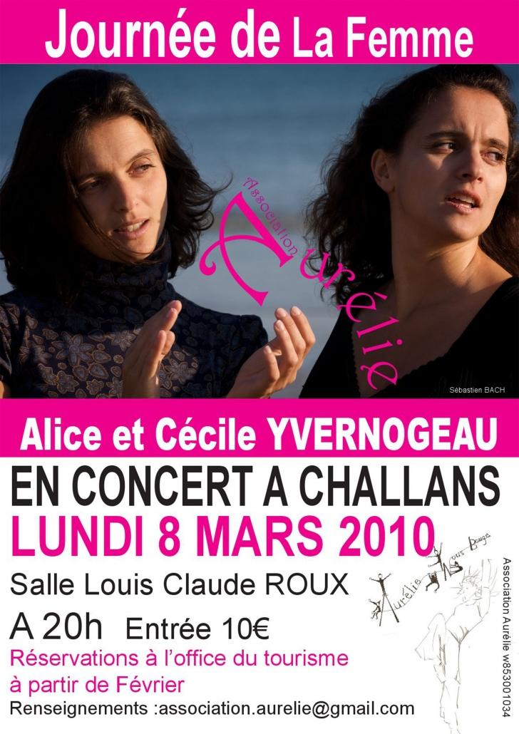 Affiche Alice et Cécile Yvernogeau