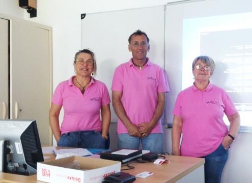 Photo journée prévention lycée avec l'association Aurélie, Challans